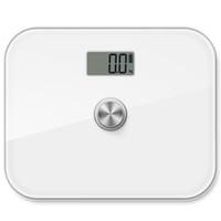 dodocool senza batteria digitale di precisione Corpo Bilancia monitor del grasso corporeo con vetro temperato e display a cristalli liquidi 330 lb Capacità DA100