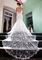 wedding Dresses 2016 Stunning Lace Long Tail New mermaid wed...