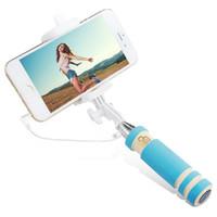Pliable Super Mini Wired selfie Bâton Handheld Extensible Manfrotto -Construit Bluetooth Obturateur anti-dérapant Poignée Compatible avec le téléphone