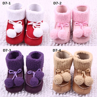 Hot Sale New Arrival Children Boots Fur and Fabric Four Soli...