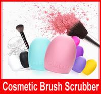 Brushegg Pro Egg Очистка перчатки для чистки макияжа Щетка для мытья Silica перчатки скруббер 5Colors Совет Косметические Clean Инструменты Кисть Очиститель