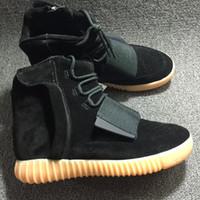 "Kanye West 750 Boost "" BLACK "" Glow in the dark Men ..."