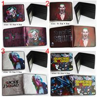 5pcs lot 21. 5*9cm DC Comics Movie Suicide Squad Wallet The J...