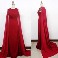 Charming Red Evening Dresses Jewel chiffon Floor length part...