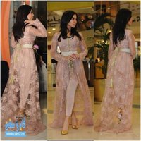 Kim Kardashian Fairy Tale Style Celebrity Lace Evening Dress...