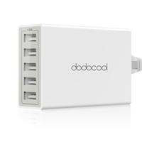 dodocool 40W 8A 5-Port USB Power Adapter ricarica della stazione del caricatore della parete di corsa con 1,5 m staccabile di alimentazione CA Cavo DA65
