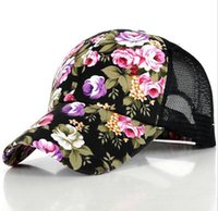 2016 hot women floral baseball snapback hat new spring summe...