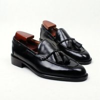 Men Casual shoes Loafers shoes Custom handmade shoes Tassels...