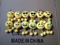 DHL ship Emoji Smiley Keychains 6cm cellphone pendant cute y...