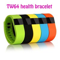 Tw64 smart bracelet fitness santé sport bracelet bluetooth 4.0 smart bracelet imperméable à l'eau avec anti perte de fonction