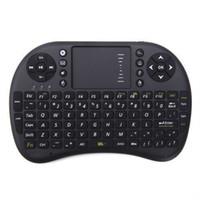 Mini clavier sans fil Rii i8 2.4GHz Air souris clavier Touchpad télécommande pour Android Box TV 3D jeu Tablet PC