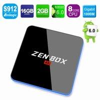 Genuine ZEN BOX 4K Amlogic S912 Octa Core Android TV Box 6. 0...
