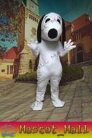 MALL133 White Plush Snoopy Dog Animal Mascot Cartoon Costume...