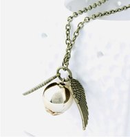 2016 Harry Potter Charms Snitch Silver Wing Necklace Pendant...