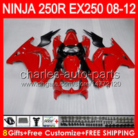 8gifts+ Body For KAWASAKI NINJA ZX 250R EX250 08- 12 TP4 ZX250...