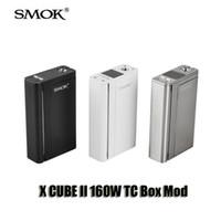 Authentic SMOK X CUBE II 160W TC Box Mod Xcube 2 160W Température Bluetooth Contrôle 18650 Mod pour 510 fil Sub Ohm réservoir