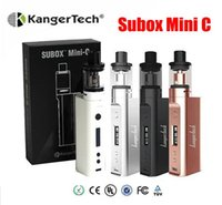 100% original Kanger Subox Mini Kit C kangertech 50W KBOX Avec 3ml Top Refilling Protank 5 Atomiseur Starter vs Subox mini topbox mini