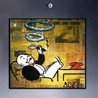 Рамку КУРЕНИЕ, высокое качество подлинной Ручная роспись Для Уолл-Deco Alec монопольного граффити поп-арт картины маслом на холсте Мульти размер, свободный Shippin