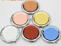 Gravé Cosmetic Compact Mirror Cosmetic Miroir Pocket Maquillage Professional Tools Le meilleur cadeau pour faveur de mariage partie par DHL
