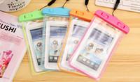 Universal Effacer LED Sac lumineux étanche Preuve Housse eau Cover Underwater sec pour l'iPhone 4S 5 5S 6 plus Samsung S6 bord S5 Note 4