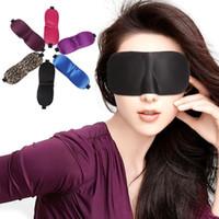 3D sleep mask Travel Rest 3D Sponge Eye MASK Black Sleeping ...