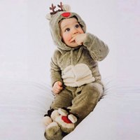 new baby clothes, autumn and winter pajamas little elk coral...