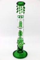 tuyau d'eau de haute qualité grâce Bong en verre percolateur bobine avec protection anti-éclaboussures articulation 18.8mm 16 pouces