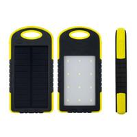 8000mAh Солнечное зарядное устройство солнечной энергии банк Водонепроницаемые панели солнечных батарей Зарядные устройства с LED фонарик кемпинга Ourdoor лампы