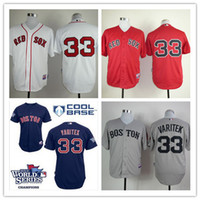 Wholesale Authentic Boston Red Sox Jersey 33 Jason Varitek C...