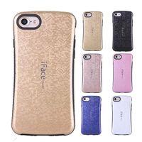 Iface чехол для iPhone 7 Plus Hybrid Корея Стиль квадрата сетки Жесткий телефон заднюю крышку корпуса силиконовой резины Крышки для iPhone7 4.7