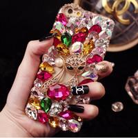 5 Styles Luxury 3D Flower Fox Diamond For Apple Iphone 6s 6 ...
