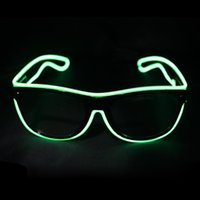 Glow Sun Glasses Led DJ Bright Light Safety Light Up Multico...