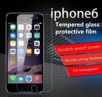 IPhone 7 / iPhone 7 puls / iphone6 / 6S / puls / samsungS7 / S6 Protecteur d'écran, HD 9H Dureté Film de protection en verre Installation facile