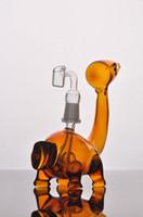 dinosaure orange mignon pas cher narguilés bongs verre conduites d'eau percolateur pour fumer capiteux plates-formes pétrolières recycleur barboteurs perc