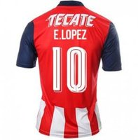 Thai Quality Customized Chivas 2016 Home 10 Lopez Soccer Jer...