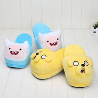 26cm Adventure time Jake Finn Plush Shoes Slipper Adult slip...