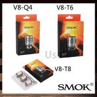 Smok TFV8 Tête de bobine V8-T8 V8-T6 V8-T4 V8-X4 V8 RBA V8-T10 Bobines de rechange pour TFV8 Cloud Beast Tank 100% Original