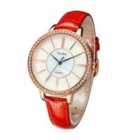 Étanche Tierxda femmes en cuir automatique analogique montre-bracelet de mode 6093L