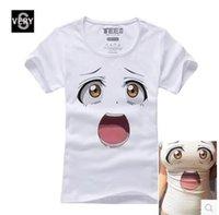 Animae cartoon 3d printing short sleeve T- shirt Big eyes att...
