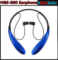 HBS 800 HBS800 Casque sans fil Bluetooth Casque écouteur sport bluetooth 3.0 Casque intra-auriculaire mains libres Sans logo Avec Retail Box