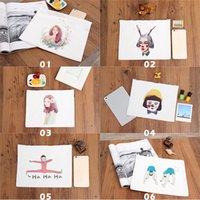 Printed Canvas Clutch Bag Purse Handbag File Pocket Coin Pur...