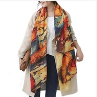 2016 New Long Graffiti Women Scarves Autumn Winter Pashmina ...