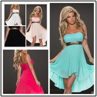 Hot new Sexy Strapless Backless Chiffon Dresses Sexy Women S...