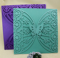 Wedding invitations laser greeting cards butterfly fitting h...