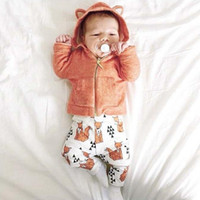 Toddler Infant Baby Kids Children 2PCS Fox Tops Blouses With...