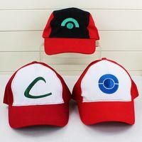 Poke HAT Ash baseball hats Cosplay Cap Sun Hats ASH baseball...