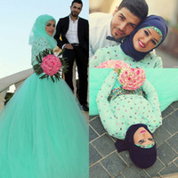 New Arrival Arabic Muslim Luxury Evening Dresses High Neck T...
