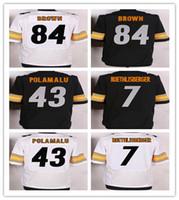 2016 NEW Steelers Elite Jerseys Football Jerseys 43 POLAMALU...