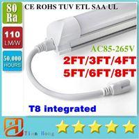 8 ft LED tube Integrated T8 LED Tube 45W 4800LM SMD 2835 Lig...