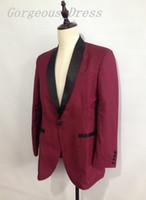 Dramatic New Blazer Man Suit Wedding Dresses Shawl Lapel One...